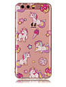 Pour huawei p8 lite (2017) p10 lite tpu materiel imd process unicorn pattern telephone cas p10 p9 lite p8 lite