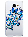 For Samsung Galaxy A3 (2016) A5 (2016) Case Cover Butterfly Pattern High Transparent TPU Material IMD Craft Mobile Phone Case  A3 (2017) A5 (2017)