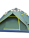 3-4 personnes Tente Double Tente automatique Une piece Tente de camping Fibre de verre Resistant aux ultraviolets Resistant au vent-