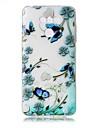 용 케이스 커버 투명 엠보싱 텍스쳐 패턴 뒷면 커버 케이스 꽃장식 버터플라이 소프트 TPU 용 LG LG G6