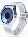 Men\'s Fashion Watch Wrist watch Unique Creative Watch Chinese Quartz Large Dial Metal Band Casual Unique Creative Silver