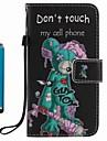 케이스 커버 카드 홀더 지갑 스탠드 플립 패턴 전신 케이스와 스타일러스 만화 하드 pu 가죽 사과 아이폰 7 플러스 7 6s 플러스 6s 5s