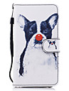 For Samsung Galaxy A3 A5 (2017) Case Cover Dog Pattern Painted Card Stent PU Material Phone Case A5 (2016)