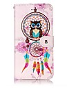 For iPhone X iPhone 8 Case Cover Wallet Card Holder Embossed Pattern Full Body Case Owl Dream Catcher Hard PU Leather for Apple iPhone X
