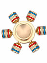 Fidget Spinner Hand Spinner Toys Six Spinner Brass EDCFocus Toy Stress and Anxiety Relief Office Desk Toys Relieves ADD, ADHD, Anxiety,