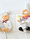2Pcs Power Line Storage Racks Set Creative Cartoon Cook Design Resin Wall Hooks
