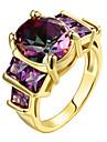 Mulheres Maxi anel Anel Zirconia cubica Euramerican Joias de Luxo bijuterias Moda Personalizado Prata de Lei Zircao Chapeado Dourado Rosa