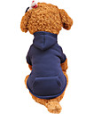 Holdhoney Dog Hoodie  Red/Dark Blue/Fuchsia/Pink/Green/Coffee/Gray Dog Clothes Spring/Fall Solid Fashion #LT15050289