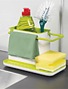 1Pcs   Amazing 3 In 1 Glove Storage Debris Rack Dishclout Storage Rack Kitchen Stands Utensils