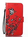 Para lg k8 k7 capa capa borboleta flores padrao pu material cartao stent carteira telefone capa g6