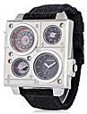 남성용 어른\' 스포츠 시계 밀리터리 시계 드레스 시계 패션 시계 손목 시계 팔찌 시계 독특한 창조적 인 시계 캐쥬얼 시계 중국어 석영 달력 방수 펑크 큰 다이얼 섬유 밴드 멋진 캐쥬얼 창의적 우아한 블랙