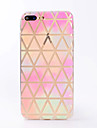 Para iPhone X iPhone 8 Case Tampa Transparente Estampada Capa Traseira Capinha Estampa Geometrica Macia PUT para Apple iPhone X iPhone 8
