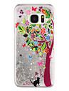 For Samsung Galaxy S8 Plus S8 Phone Case Tree Pattern Flowing Quicksand Liquid Glitter Plastic PC Materia S7 edge S7