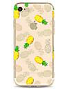 애플 아이폰 7 7 플러스 6s 6 플러스 케이스 커버 파인애플 패턴 높은 침투 tpu 소재 소프트 케이스 전화 케이스 그린