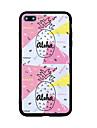 Для iphone 7 плюс 7 чехлы для обложки задняя крышка чехол геометрический узор линии / волны фрукт слово / фраза жесткий акрил для iphone