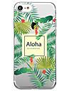 Pour iphone 7 plus 7 housse couverture transparent motif couverture arriere lettre botanique doux tpu pour iphone 6s plus 6s 6 plus 6 5s 5