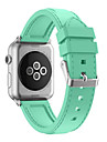 Watch Band For Apple Watch Silicone Classic Buckle Watchband with Adapter