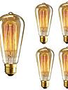 5pcs ST64 E27 40W Incandescent Vintage Edison Light Bulb For Restaurant Club Coffee Bars Light AC110-130V