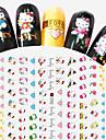 1pcs Fashion Lovely Style Design Nail Art Cartoon 3D Stickers Cute Hello Kitty Heart Shape DIY Beauty Creative Decoration F098