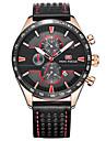 Men\'s Dress Watch Fashion Watch Quartz Genuine Leather Band Charm Casual Black Brown Grey