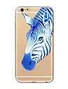 Etui pour iphone 7 plus 7 couverture transparent motif couverture arriere carre animal de bande dessinee tpu doux pour iphone 6s plus 6
