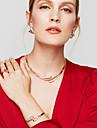 Set de Bijoux Boucles d\'Oreille Bracelet Bague Basique Original Mode Europeen Simple Style Strass Alliage Forme de Cercle Or PourSoiree