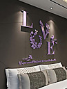 로맨스 벽 스티커 3D 월 스티커 데코레이티브 월 스티커 웨딩 스티커,아크릴 자료 홈 장식 벽 데칼