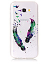 Case For Samsung Galaxy A5(2017) A3(2017) Phone Case TPU Material IMD Process Feather Pattern HD Flash Powder Phone Case