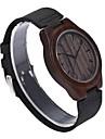 REDEAR®Men\'s Wood Watch Japanese Quartz Wooden Genuine Leather Band Elegant Black Brown