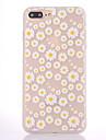 Etui pour apple iphone 7 7 plus housse de couverture chiffon de chrysantheme masquage translucide plus epais materiel tpu etui souple