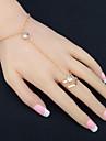 Femme Bracelets Bagues Strass Mode bijoux de fantaisie Strass Alliage Forme de Cercle Bijoux Pour Soiree Anniversaire