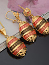 May Polly Fashion 18K gold color Pendant Earrings Necklace Set