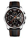 Men\'s Fashion Watch Wrist watch Quartz Genuine Leather Band Black