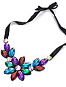 Women\'s Choker Necklaces Rhinestone Arylic Floral Jewelry For Dailywear Shopping