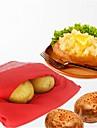 Bolso de batata vermelha cozida no forno com microondas para rapido rapido em apenas 4 minutos de sacos de batata