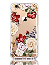 Pour iPhone X iPhone 8 Etuis coque Transparente Motif Coque Arriere Coque Fleur Flexible PUT pour Apple iPhone X iPhone 8 Plus iPhone 8
