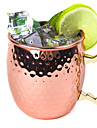 Hammered Copper Plated Stainless Steel 530ml Moscow Mule Mug Drum-Type Beer Cup Coffe Cup Water Glass Drinkware