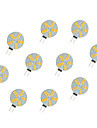2.5W LED a Double Broches 15 SMD 5630 220 lm Blanc Chaud Blanc DC 12 V 10 pieces