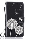 Caso para maca iphone 7 7 mais capa cartao titular carteira rhinestone com stand flip pattern corpo inteiro dandelion hard pu couro para 6