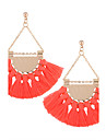 Women\'s Drop Earrings Jewelry Tassel Bohemian Personalized Euramerican Fashion Cotton Alloy Irregular Jewelry ForWedding Anniversary
