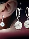 Femme Boucles d\'oreille goutte Strass Mode bijoux de fantaisie Plaque argent Alliage Goutte Bijoux Pour Mariage Soiree Quotidien