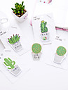 1 pc cactus auto-stick notes 30 paginas (cor aleatoria)