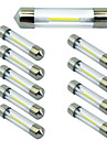 10pcs 41MM COB White/Warm/Blue Chips C5W Car Interior Glass Lens Festoon Dome Reading LED DC12V