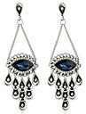 Women\'s Drop Earrings Imitation Sapphire Rhinestone Oversized Vintage Personalized Alloy Drop Evil Eye Jewelry For Other Stage Going out