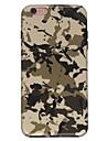 Caso para iphone 7 6 camuflagem cor tpu suave tampa de capa de tampa traseira ultra-fina iphone 7 mais 6 6s mais se 5s 5 5c 4s 4