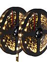 72W 유연한 LED 조명 스트립 6950-7150 lm DC12 V 10 m 300 LED가 웜 화이트 화이트 블루