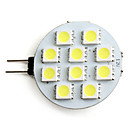 2W G4 LED 스팟 조명 10 SMD 5050 80 lm 내추럴 화이트 DC 12 V