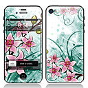 Elegante Flower Design Front-und Back-Schirm-Schutz-Film für iPhone 4/4S