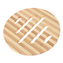 "5.7 ""Hohle Windmill Pattern Round Bamboo Coaster"