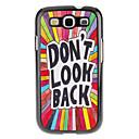 Letters Pattern Hard Case für Samsung Galaxy S3 I9300